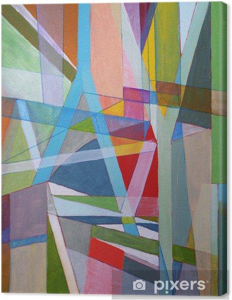 Tableau sur toile Une peinture abstraite - Abstrait