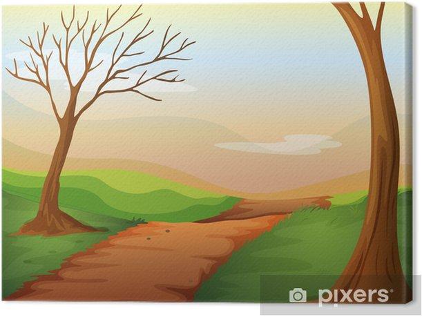 Tableau sur toile Une route déserte - Nature et régions sauvages