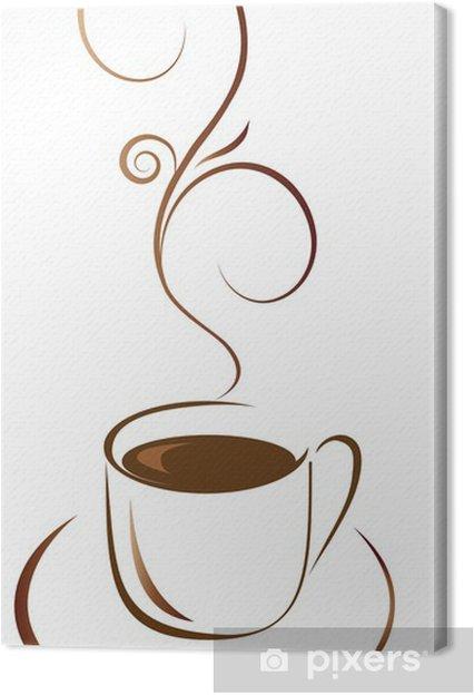 Tableau sur toile Une tasse de café pour votre favori - Repas