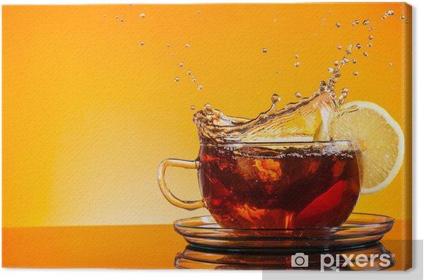 Tableau sur toile Une tasse de thé - Repas