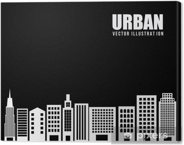Tableau sur toile Urban city conception - Propriétés privées
