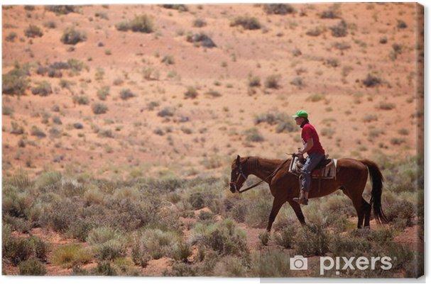 Tableau sur toile USA - cheval dans Monument Valley - Amérique