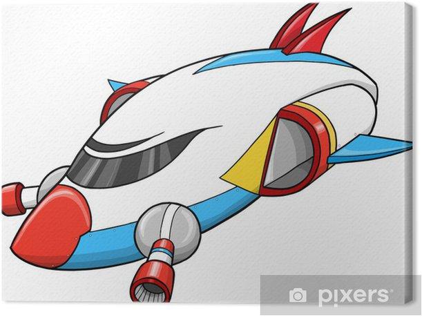 Tableau sur toile Vaisseau spatial Spaceship élément de conception Vecteur - Dans les airs