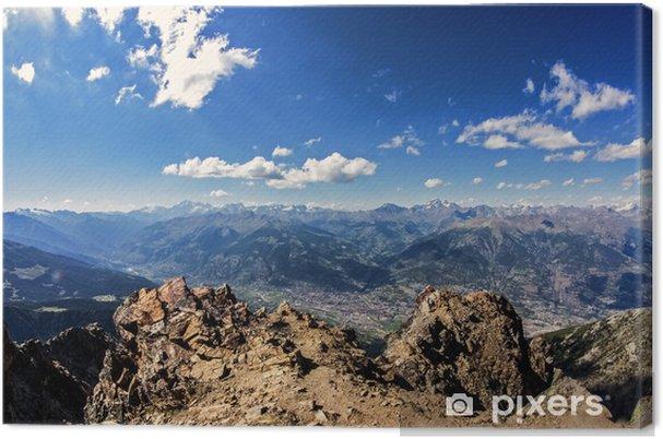 Tableau sur toile Val d'Aoste Top - Montagne