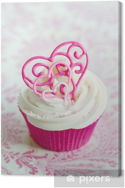 Tableau sur toile Valentine cupcake - Fêtes internationales