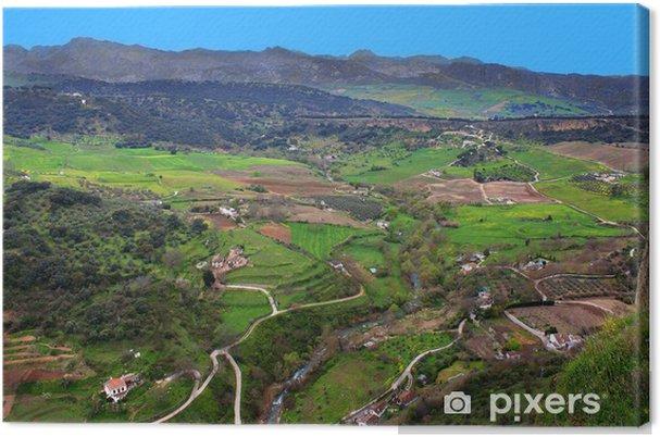 Tableau sur toile Vallée à Ronda, Espagne - Europe