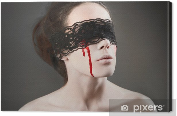 Tableau sur toile Vampire de dentelle noire - Thèmes