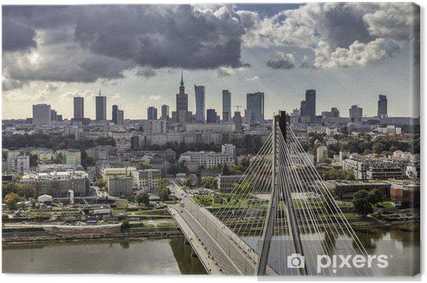 Tableau sur toile Varsovie horizon derrière le pont - Thèmes