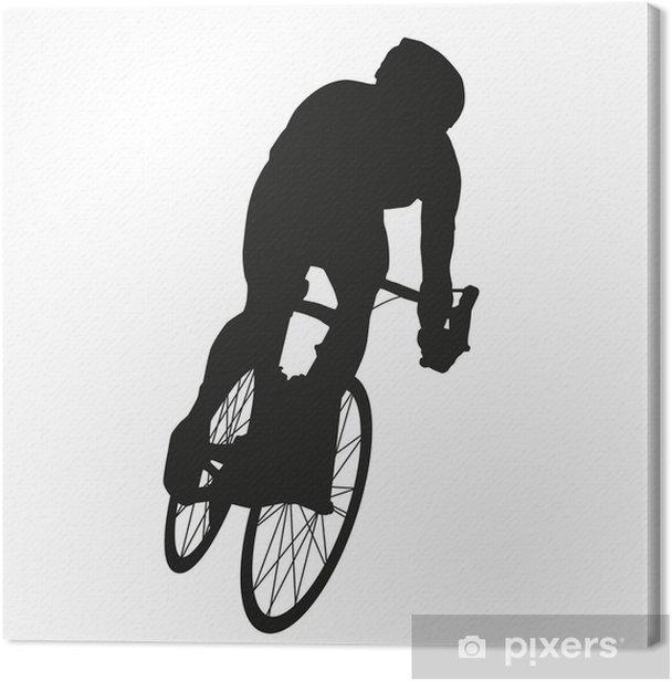 Tableau sur toile Vecteur cycliste. Le cyclisme sur route - Sports individuels