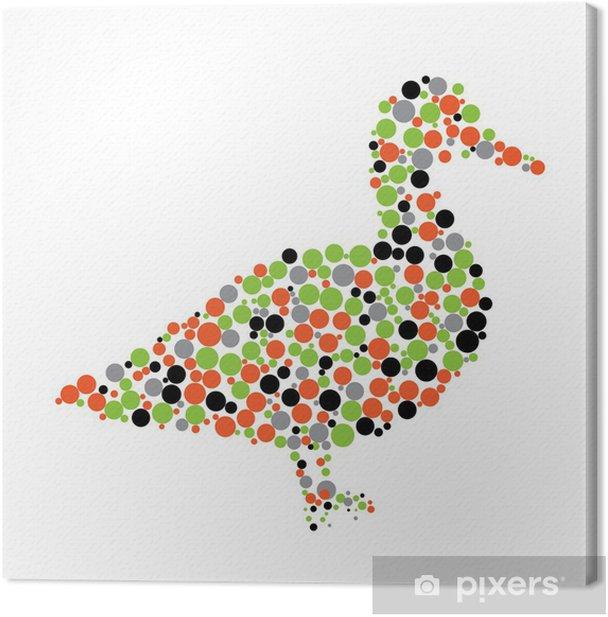 Tableau sur toile Vecteur de canard - Vie
