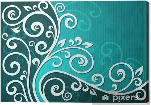 Tableau sur toile Vecteur de cyan Résumé illustration floral. - Merveilles naturelles