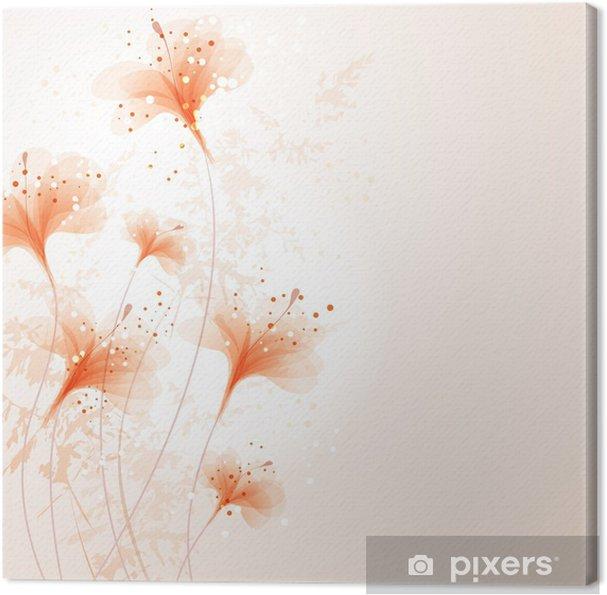 Tableau sur toile Vecteur de fond avec flowes - Évènements nationaux