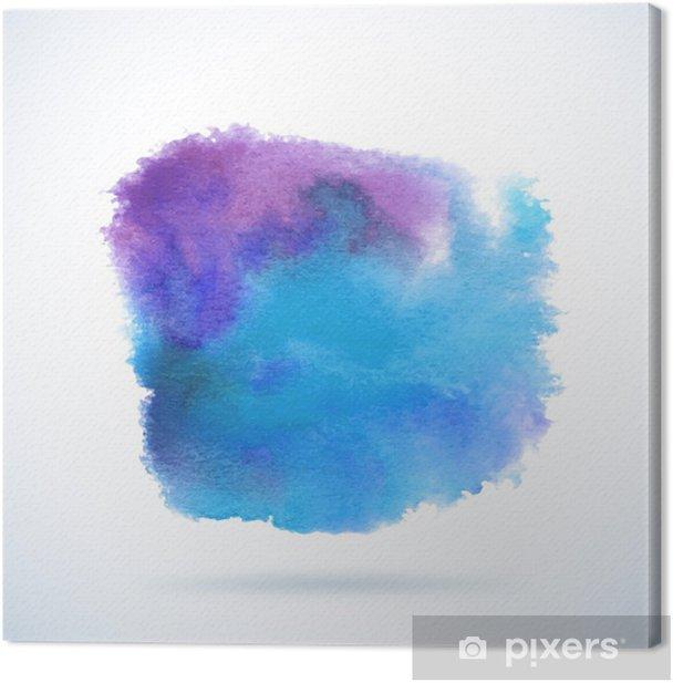 Tableau sur toile Vecteur de fond d'aquarelle. Résumé blob grunge - Thèmes