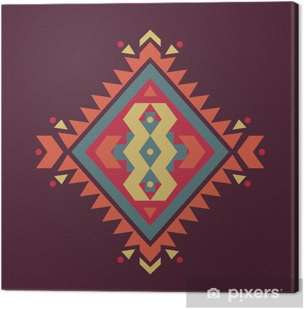 Tableau sur toile Vecteur motif coloré ethnique décoratif - Styles