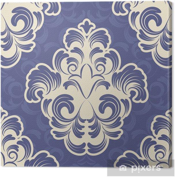 Tableau sur toile Vecteur toile de fond sans soudure. motif de damassé. Papier peint à fleurs - Arrière plans