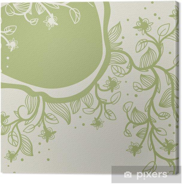 Tableau sur toile Vector Floral Background - Plantes