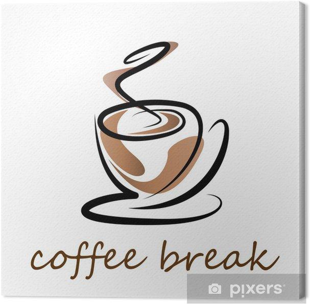 Tableau sur toile Vector Logo pause café