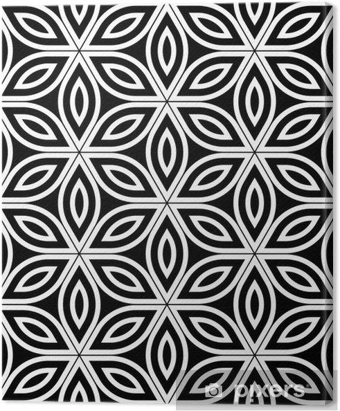 Tableau sur toile Vector moderne seamless sacré de la géométrie, noir et blanc fleur abstraite géométrique de vie fond, papier peint impression, monochrome rétro texture, design de mode hipster - Ressources graphiques