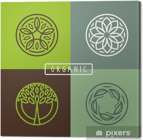 Tableau sur toile Vector résumé emblème - écologie - Signes et symboles