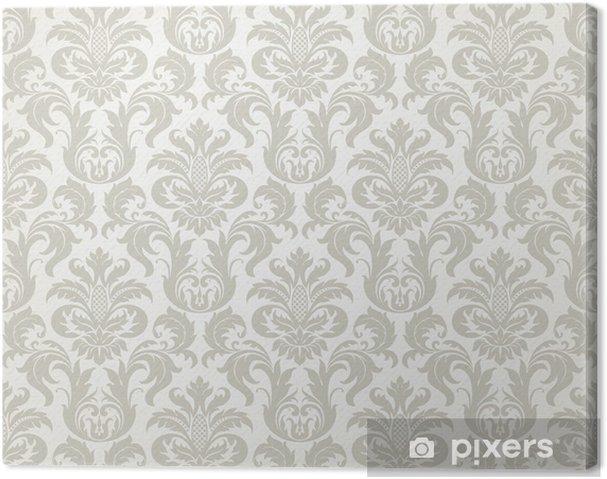Tableau sur toile Vector seamless pattern floral de damassé - Thèmes