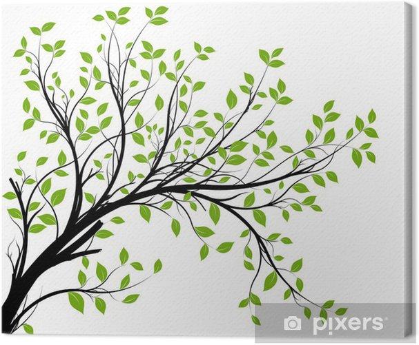 Tableau sur toile Vector set - vert branche décorative et feuilles - Styles