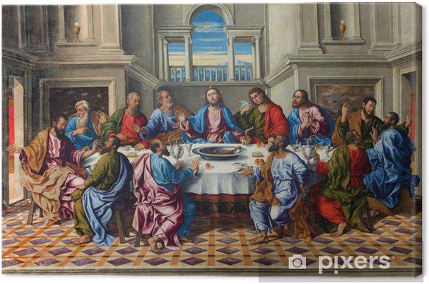 Tableau sur toile Venise - Dernier souper du Christ par Girolamo da Santacroce - Thèmes
