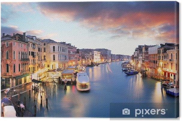 Tableau sur toile Venise - Grand canal du pont du Rialto - Villes européennes