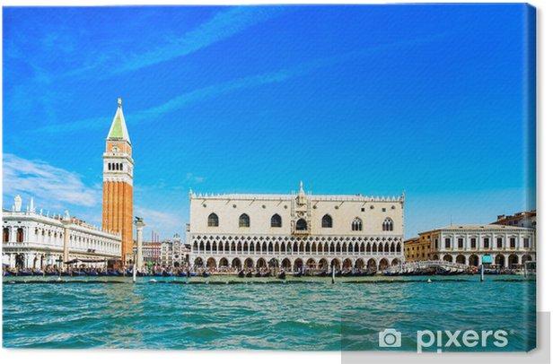 Tableau sur toile Venise historique, Piazza San Marco vue depuis la mer. Italie - Thèmes