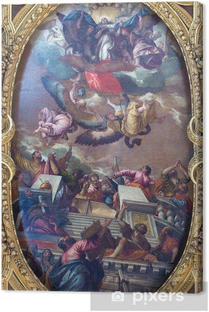 Tableau sur toile Venise - La douleur de l'Immaculée et saints - Villes européennes