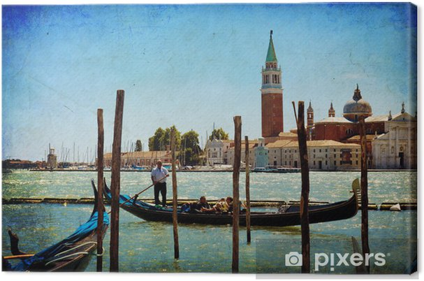 Tableau sur toile Venise, Vue de San Giorgio a augmenté de San Marco - Thèmes