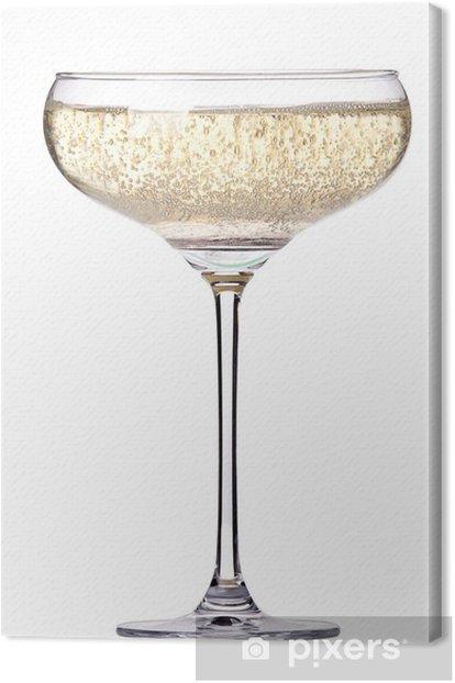 Tableau sur toile Verre de champagne isolé - Alcool