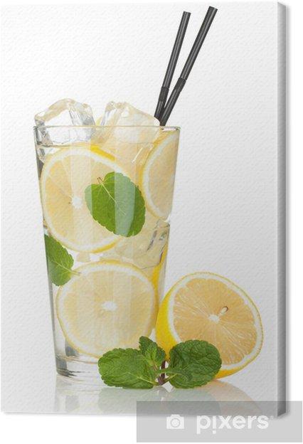 Tableau Sur Toile Verre De Limonade Au Citron Et à La Menthe