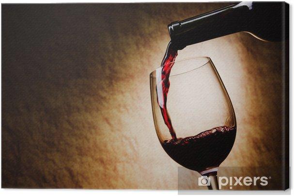 Tableau sur toile Verre de vin rouge et une bouteille - Thèmes