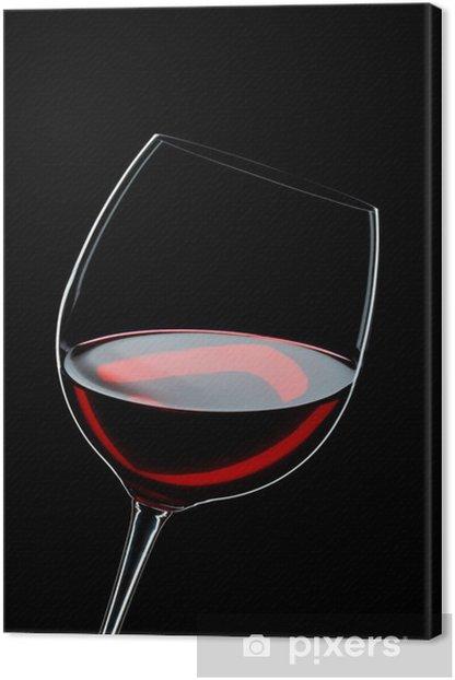 Tableau sur toile Verre de vin rouge - Thèmes
