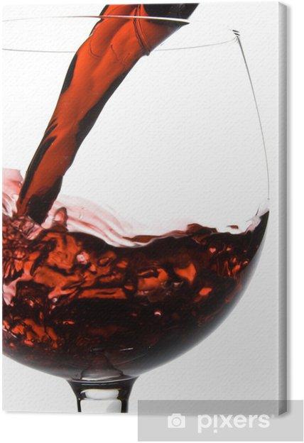 Tableau sur toile Verser dans le verre de vin provenant du décanteur - Alcool