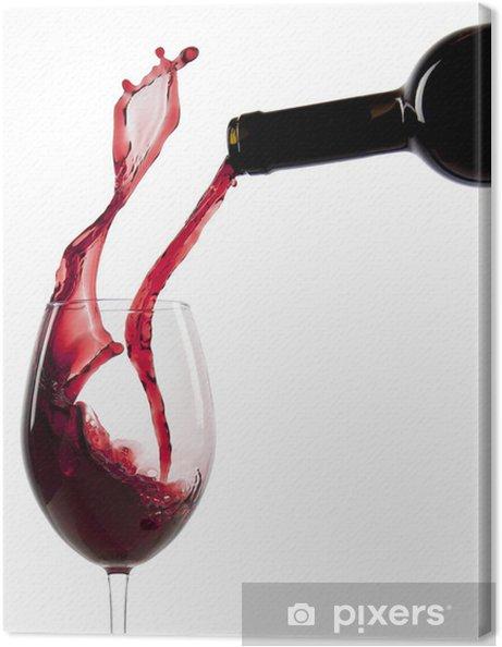 Tableau sur toile Verser le vin rouge dans un verre - Vin