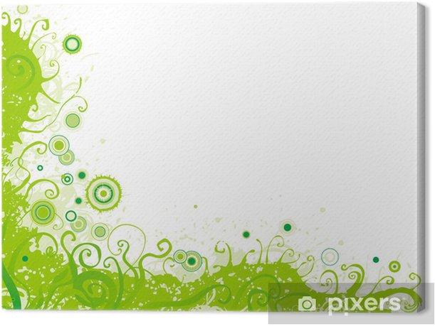Tableau sur toile Vert funky arrière-plan horizontal floral - Saisons