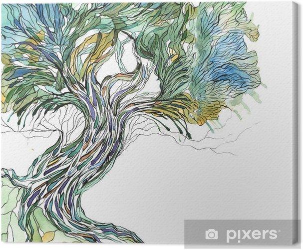 Tableau sur toile Vieil arbre - science &; nature