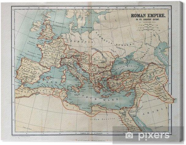 Tableau sur toile Vieille carte de l'Empire romain, 1870 - Thèmes