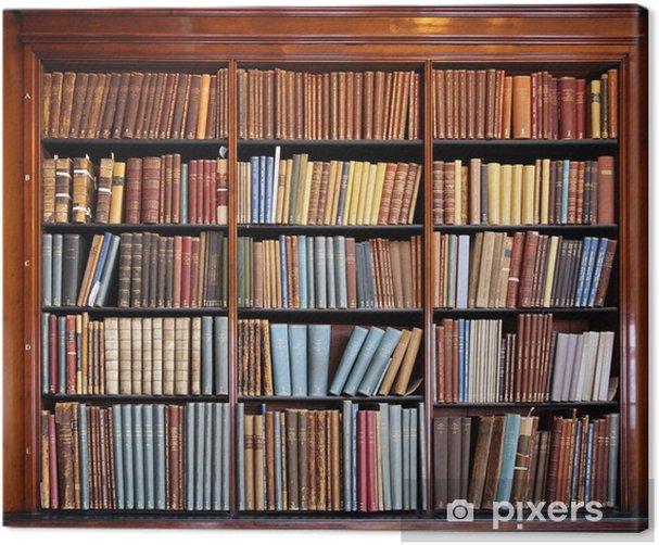 Tableau sur toile Vieille étagère bibliothèque - Bibliothèque