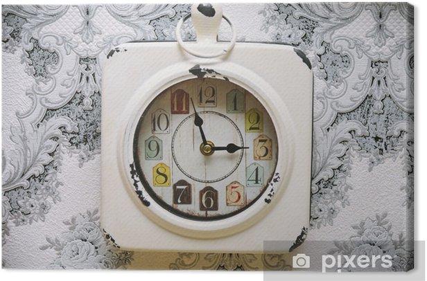Tableau sur toile Vieille horloge vintage sur le mur rétro - Ressources graphiques