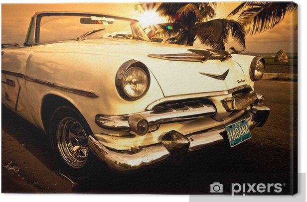 Tableau sur toile Vieille voiture américaine, Cuba -