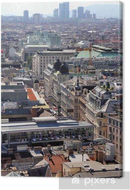 Tableau sur toile Vienne vue aérienne - Villes européennes