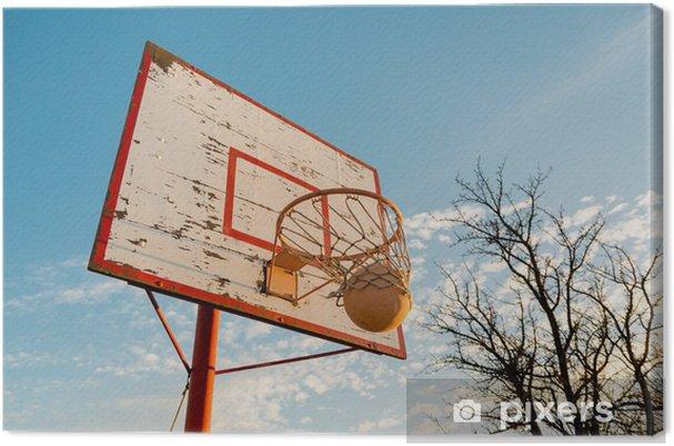 38e4ab8981714 Tableau sur toile Vieux basket-ball • Pixers® - Nous vivons pour changer