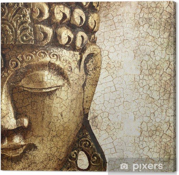 Tableau sur toile Vieux Bouddha - Styles