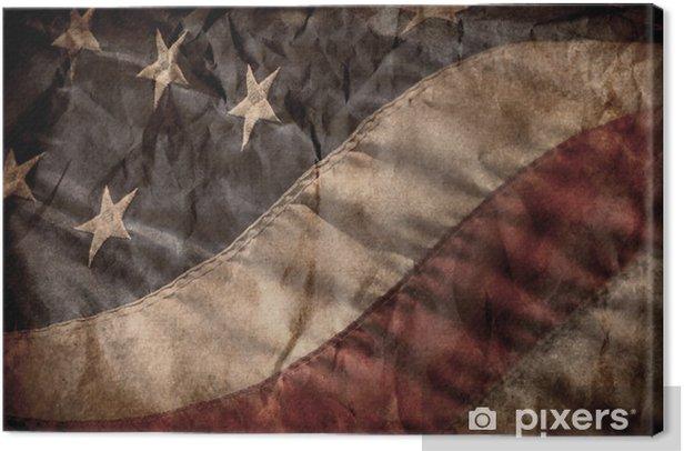 Tableau sur toile Vieux drapeau américain - Thèmes