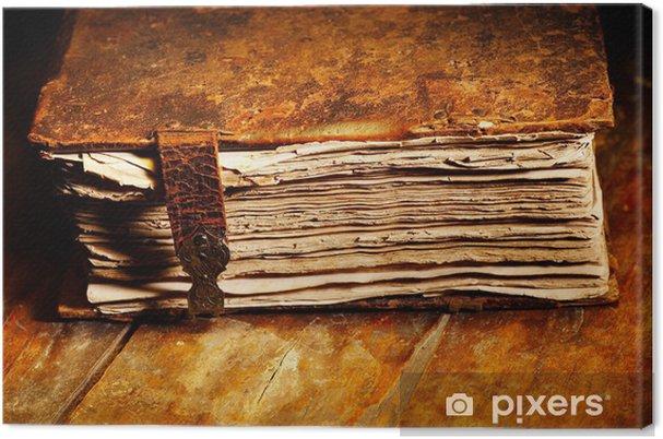 Tableau Sur Toile Vieux Livre Minable De La Couverture En Cuir
