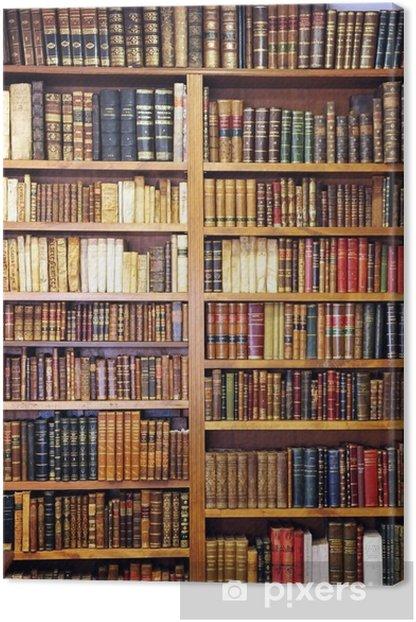 Tableau sur toile Vieux livres de bibliothèque - Bibliothèque