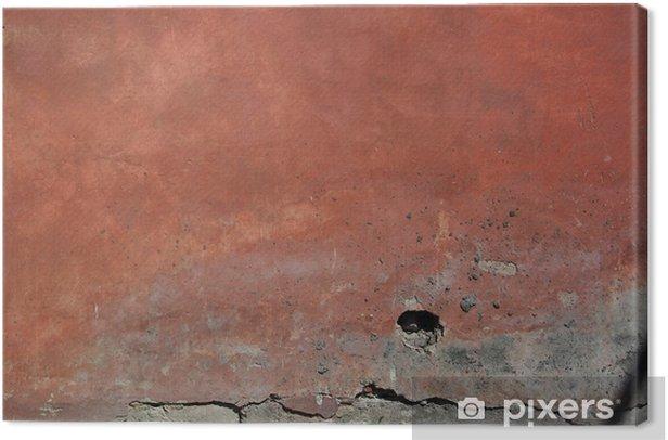 Tableau sur toile Vieux mur rouge - Textures