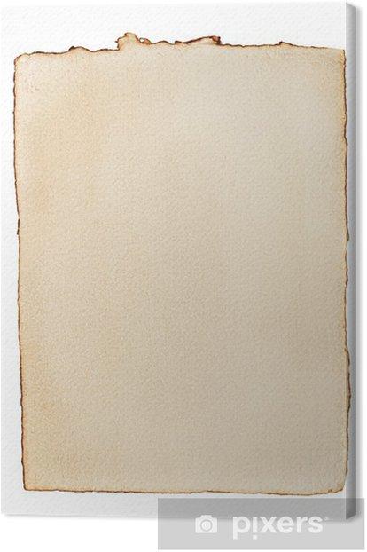 Tableau sur toile Vieux papier jauni - Textures